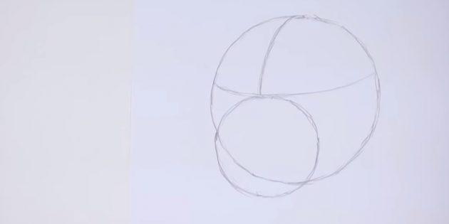 Desenhe um círculo de menor diâmetro
