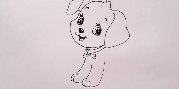 Desenhe as patas de cachorro