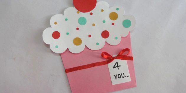 Cách tạo một bưu thiếp được đề cử - Keksik cho bàn tay của chính bạn