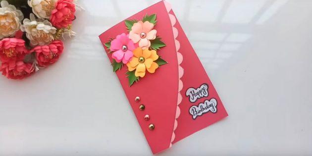 كيفية صنع بطاقات مع الزهور ليديك