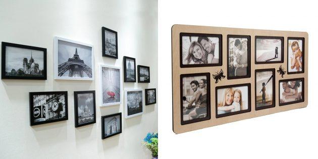 誕生日のためにママを与えるもの:壁またはデスクトップの写真フレームコラージュ
