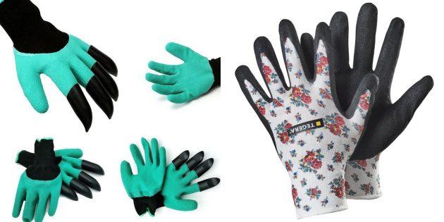誕生日のためにママを与えるもの:地面で仕事のための手袋のセット