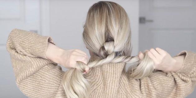 Причёски на длинные волосы: скрестите прядки