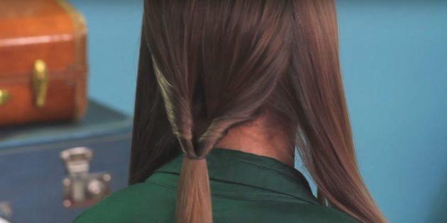 Причёски на длинные волосы: сделайте перекрученный хвост