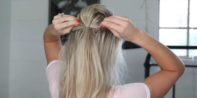 Причёски на длинные волосы: сделайте хвостик пониже