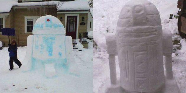 Снежные фигуры своими руками: R2-D2