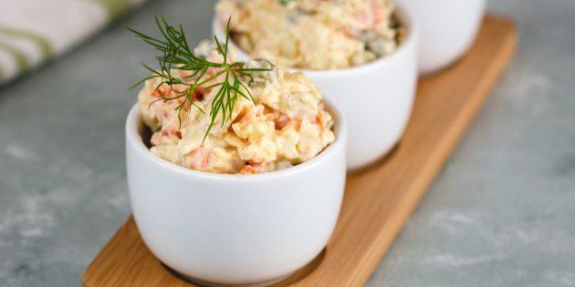 Resipi Salad Terbaik: Salad dengan Kacang Hijau, Wortel, Telur dan Soe-Mustard Refill
