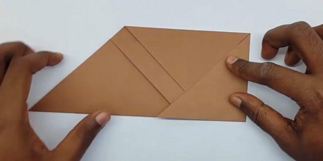 Zarf nasıl yapılır: daha düşük dik açı