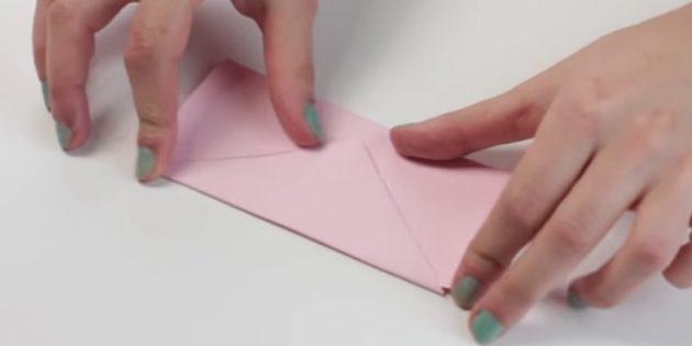 Өз қолыңызбен конверт: клапанды жасаңыз