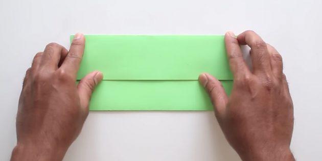 Tutkal olmadan kendi ellerinizle zarf: Üst kısmı oluşturun