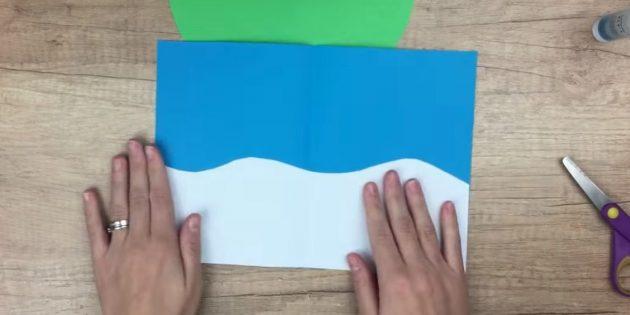 Жаңа жылдық карталар өзіңіз жасайсыз: ақ түсте жабыңыз