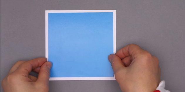 چگونه یک کارت پستال سال نو را بسازید: مربع های چسب