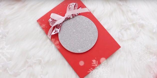 Рождестволық шарлары бар Рождество картасы