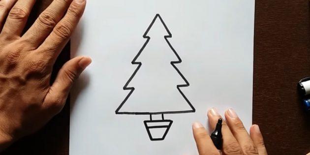 Рождество ағашын қалай салуға болады: магистральды қосыңыз