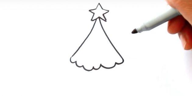 Рождестволық ағашты қалай салуға болады: Жолдарды қосу