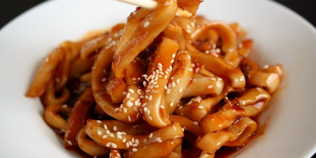 Marinated squid with soy sauce: simple recipe
