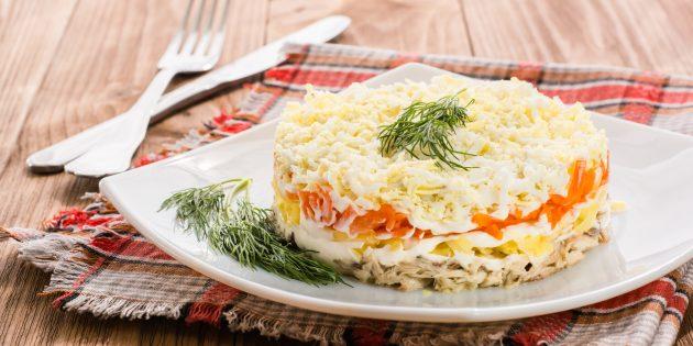 Классический салат «Мимоза» с картофелем и морковью: рецепты лучших салатов