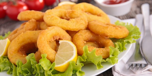 How to fry squid
