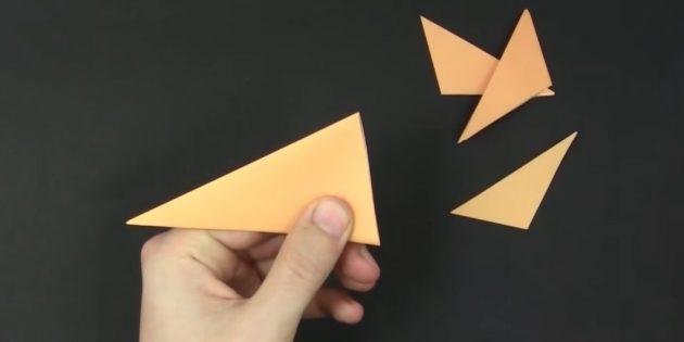 Bagaimana untuk membuat kepingan salji dari kertas dengan tangan anda sendiri: Potong tambahan