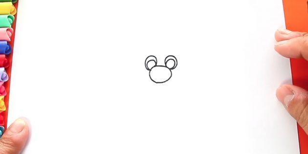 サンタクロースを描く方法:鼻と目を描く