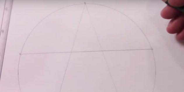 별표를 그리는 방법 : 톱 마크를 연결하십시오.