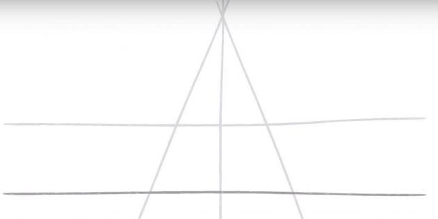 Бес бағытталған жұлдызды қалай сурет салу керек: сурет екі көлденең сызық