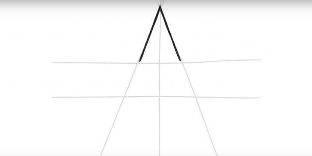 Бес бағытталған жұлдызды қалай салуға болады: шеңбер бұрышы