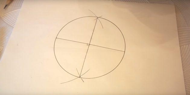 Бес бағытталған жұлдызды қалай салу керек: шеңбер сызыңыз