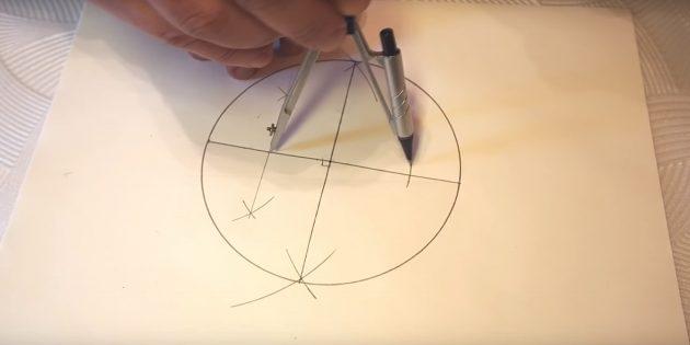 5 점을 그리는 방법 : 오른쪽에 표시를하십시오.