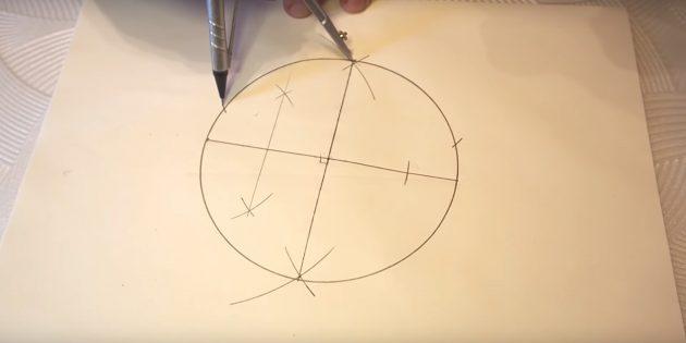5 점을 그리는 방법 : 상단의 마크 포인트