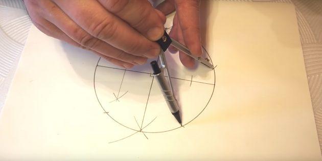 Бес бағытталған жұлдызды қалай салуға болады: Төменгі жағынан ұпайлар жасаңыз