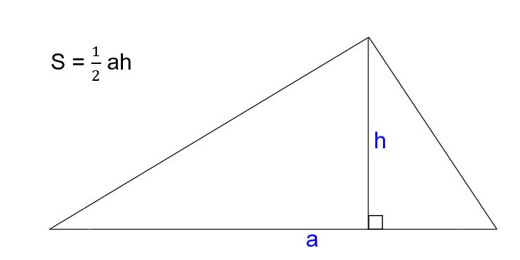 : √ 3, di mana h adalah tinggi.