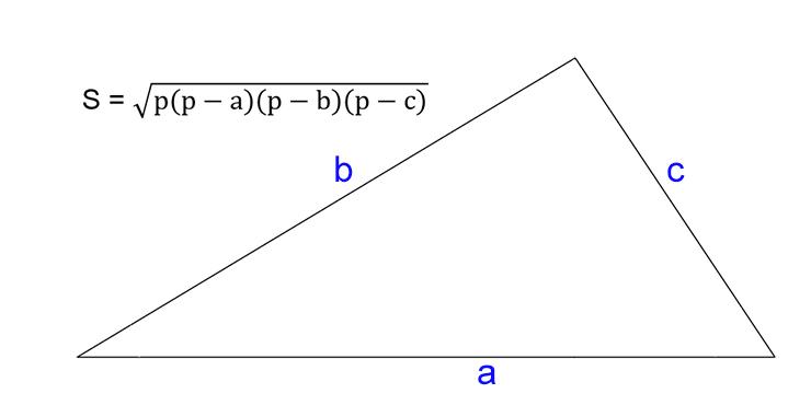 एक त्रिकोण का क्षेत्र