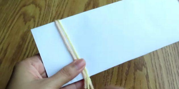 Prendre des fils sur papier