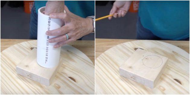 Hoe maak je een catwash voor de kat doe het zelf: omcirkel de pijp