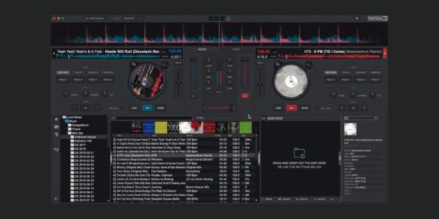 Müzik oluşturma için en iyi programlar: Sanal DJ