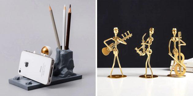 Подарки учителю на Новый год: Статуэтка или фигурки для рабочего стола