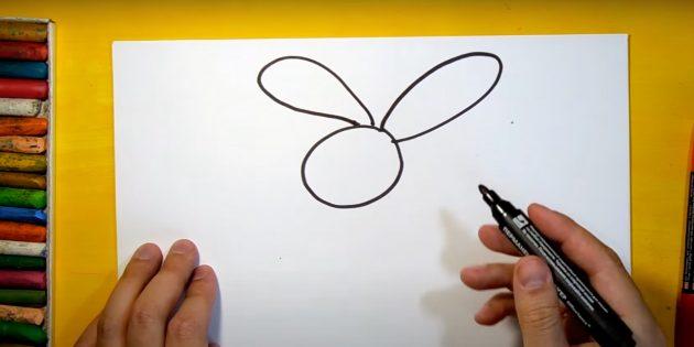 Làm thế nào để vẽ một cái thỏ rừng: đặt tai của bạn