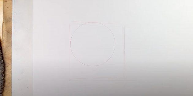 Tegn en cirkel og firkant