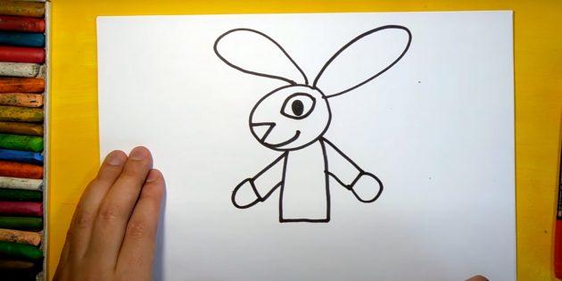 Sådan tegner du en hare: Tegn hænder