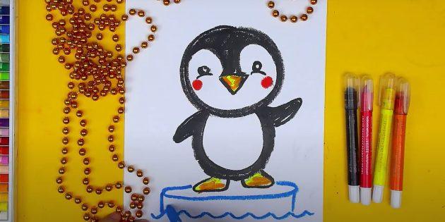 पेंगुइन कैसे आकर्षित करें: आइस ड्रा करें