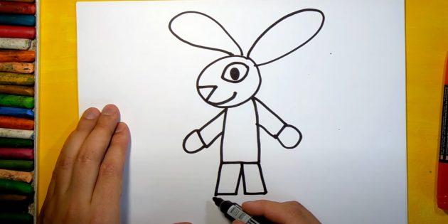 Làm thế nào để vẽ một cái thỏ rừng: Vẽ chân của bạn