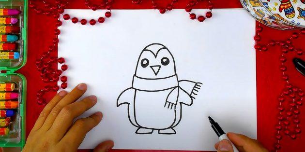 पेंगुइन कैसे आकर्षित करें: एक प्यूमेइन और पंजे ड्रा करें