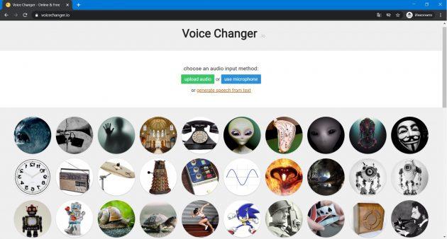 Επεξεργασία φωνής Online: Φωνητικός μετατροπέας