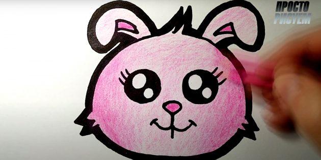Hvordan man tegner en hare: Skær kaninen