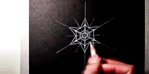 How to draw a snowflake: Draw a star