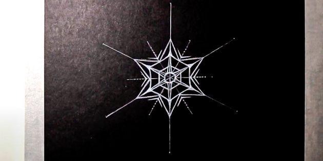 Como desenhar floco de neve: decore a estrela
