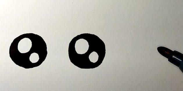 Sådan tegner du en hare: Tegn dine øjne