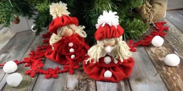 Подарки на Новый год своими руками: кукла