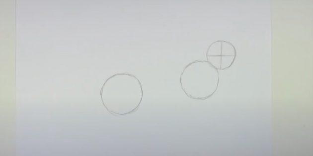 Sådan tegner du en hare: Sæt linjer inde i hovedet